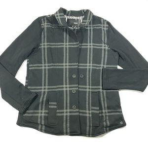 Hurley womens gray and black long sleeve jacket